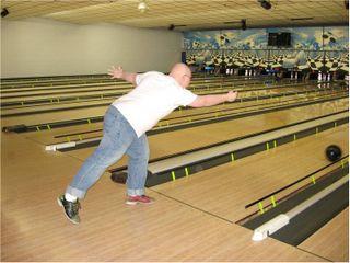 Josh bowling